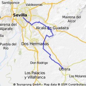 Utrera-Alcalá-Sevilla