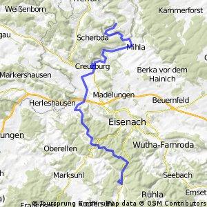 Prosteizella - Wilhelmsthal über Rennsteigradweg