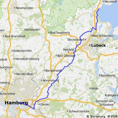 Hamburg - Lübeck (Ostsee / Sierksdorf)