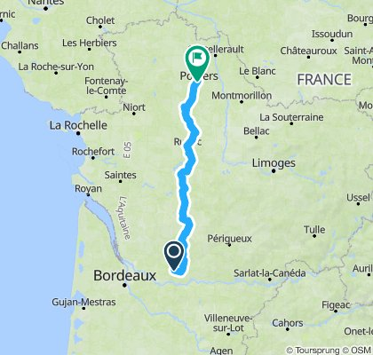 Route from campsite to Gite 2012