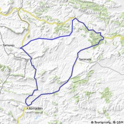 Saceruela - Comarca Montesur pasando por Puebla de Don Rodrigo