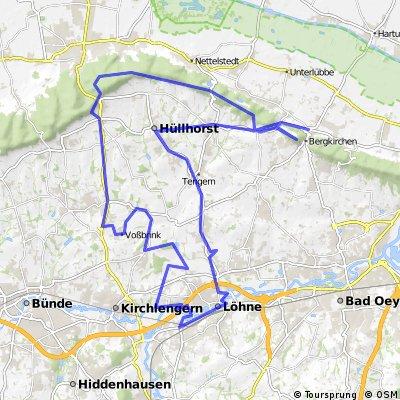 Strecke über Wiehengebirge