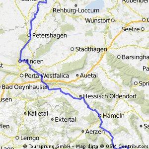 Weserradweg: Bodenwerder - Stolzenau