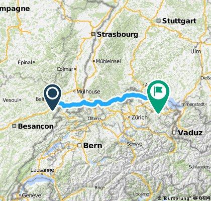 Belfort - Konstanz bikeroute
