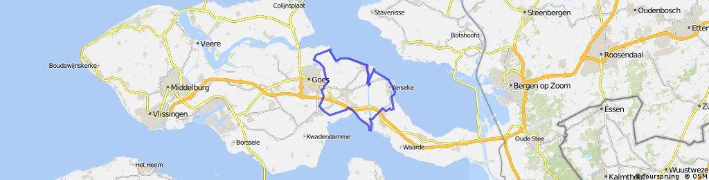 Langs Oosterschelde en Westerschelde  - 46km