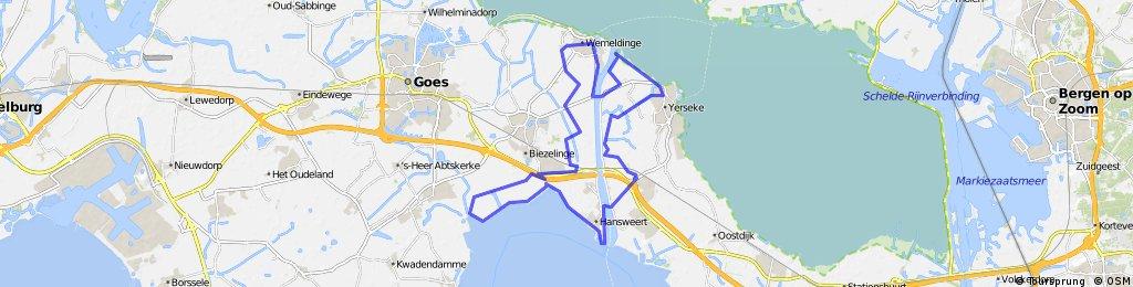 Krekengebied tussen Ooster- en Westerschelde- 42km