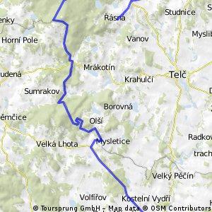 Dačice- Javořice- Roštejn- Řásná