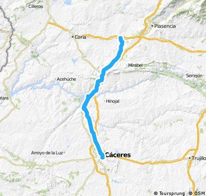 Vía de la Plata (Cáceres-Galisteo)