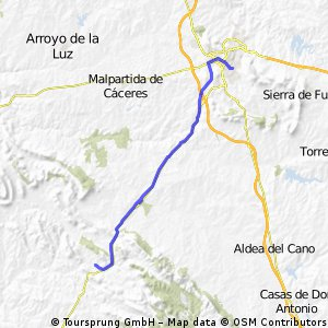 Camino Natural Cáceres-Badajoz (Cáceres-Villar del Rey)