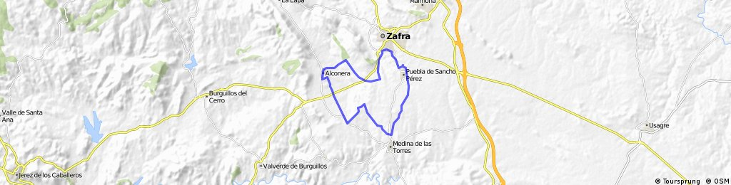 ALCONERA-MEDINA-LA PUEBLA-ZAFRA-ALCONERA