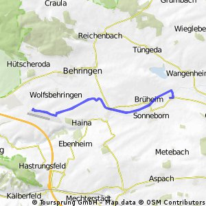 Eberstädt - Kindel - Eberstädt (Nessetalradweg) CLONED FROM ROUTE 1332878