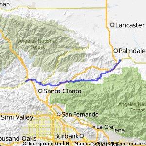 Santa Clarita, CA - Littlerock, CA
