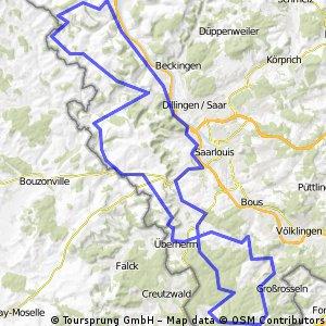 Warndt Saargau Schleife bis 2010 - RTF des RSC Überherrn e.V. - 110 km Strecke