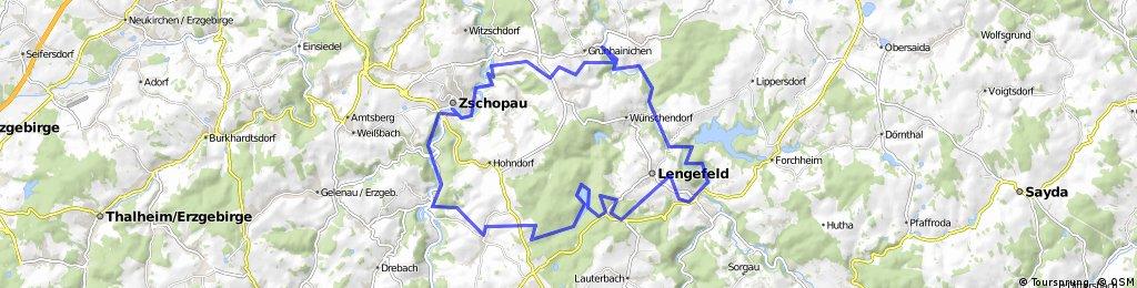 """Tour 9 """"Zschopau-Zschopau"""" MTB Runde schwer (schwarz)"""