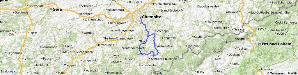 """Tour 10 """" Karl Stülpner Runde"""" Rennradrunde schwer (schwarz)"""