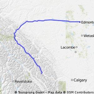 Etape 6 - Edmonton to Lake Louise