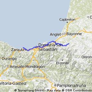 Etapp 2 Getaria -Cambo-les_Bains