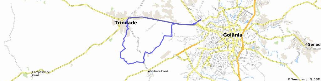 Goiänia - Pau Baixo - Abadia - Trindade - Via Infernin - Goiänia