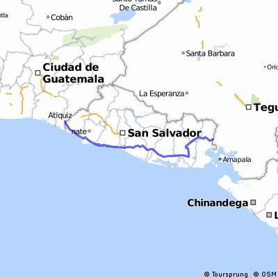 Salvador a Honduras por costera