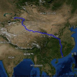 Kazahstanska meja - Hongkong