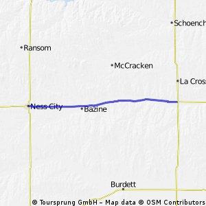 C2C Day 49: Ness City to Rush Center, KS