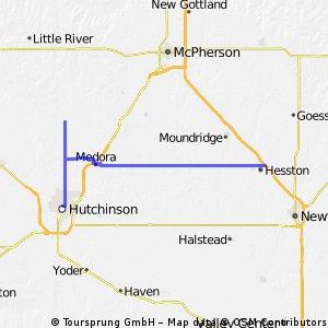 Day 53: Hutchinson to Hesston, KS