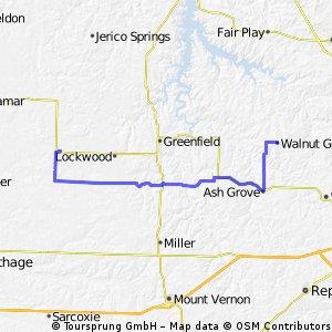 Day 58: Golden City to Walnut Grove, MO