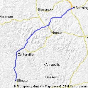 C2C day 62: Ellington to Farmington, MO