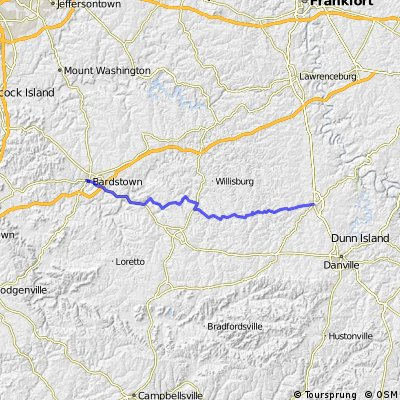 C2C Day 73: Bardstown to Harrodsburg, KY