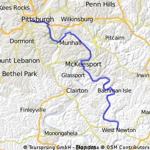 C2C Day 76: Pittsburgh to West Newton, PA
