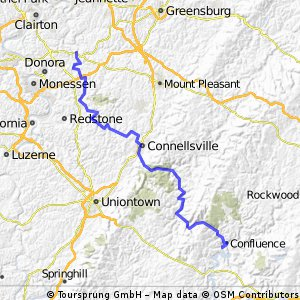 C2C Day 77: West Newton to Confluence, PA
