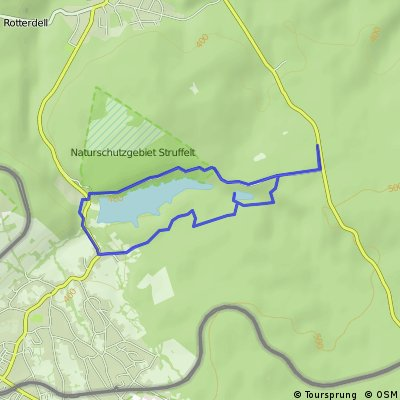 Route rund um die Dreilägerbachtalsperre bei Roetgen (Eifel)