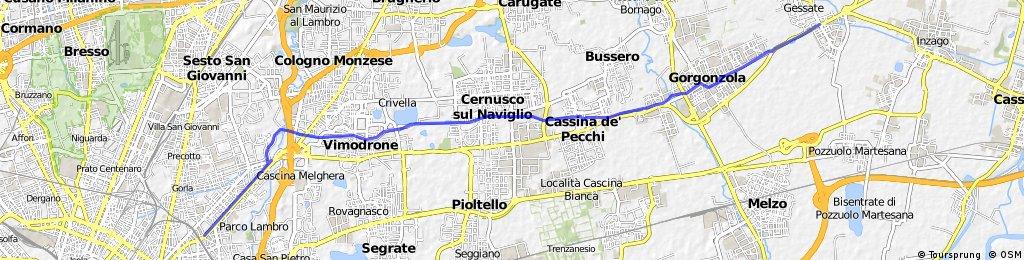 Via Palmanova - Bellinzago lungo il naviglio Martesana