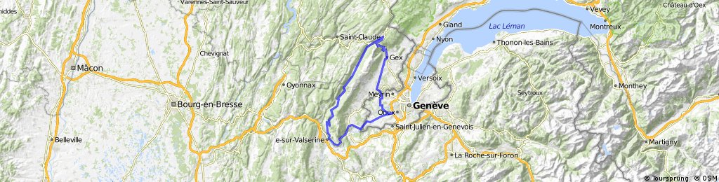 COl de Menthieres and Col de la Faucille loop