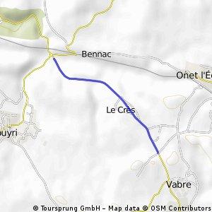 Cycling the Alps Côte d'Aubert le Crès (0591m)