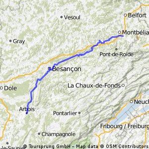 Audincourt - Besancon -  Arbois