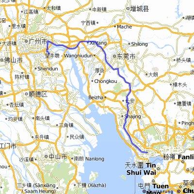 深大-广州大学城备用路线