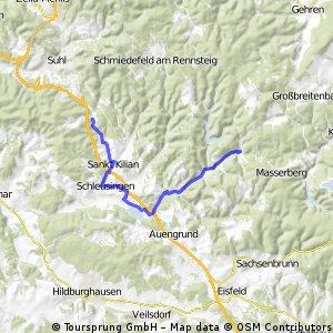 von Hirschbach nach Gießübel und zurück