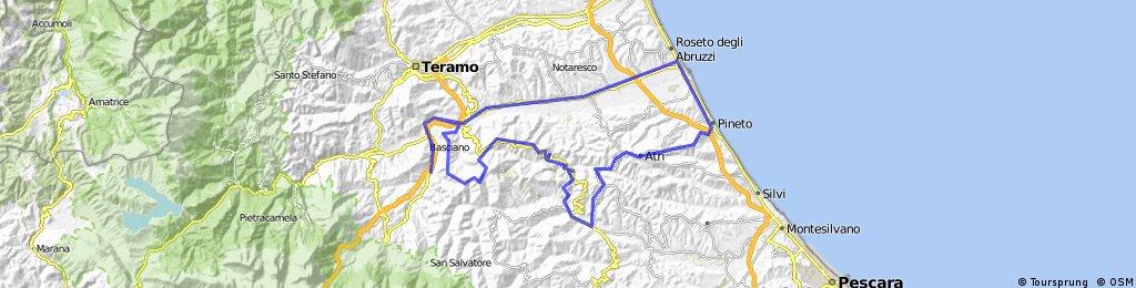 villa petto - roseto - mutignano - atri - montefino - cermignano - montegiove - pilone - valvomano - villa petto
