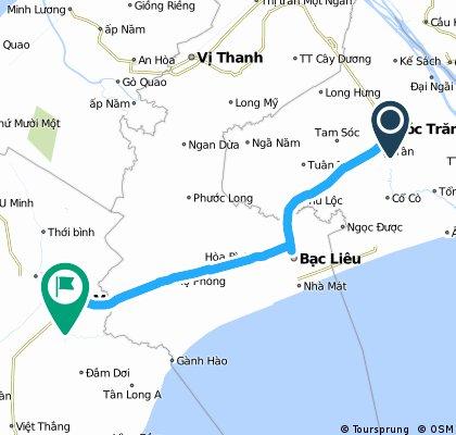 VN 2 Soc Trang to Ca Mau