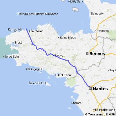 Roscoff to Nantes