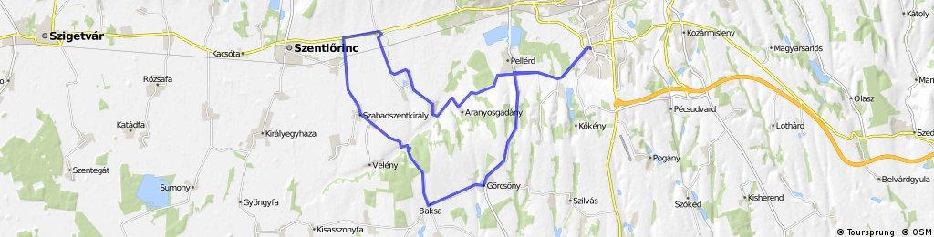 Pécs-Szabadszentkirály-Pécs