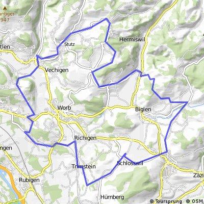 Arnisäge - Walkringen - Menziwilegg - Utzigen - Dentenberg - Trimstein - Herolfingen