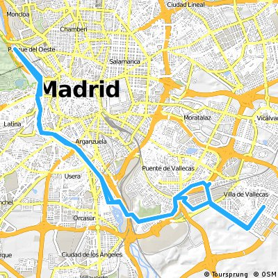 Pau Vallecas-Madrid Rio