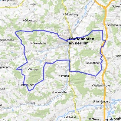 Schwierige Route, Rund um Pfaffehofen