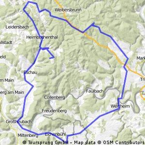 Spessartrunde mit Geishöhe, Pfaffenberg und Geiersberg