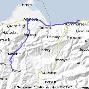KM-Fevziye-KM 51km/250m