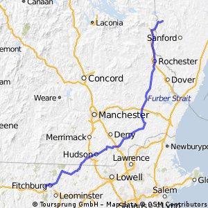 Route from  Maine -