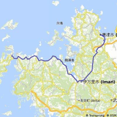 Etapa 12: Hirado - Seven Eleven cerca de Karatsu