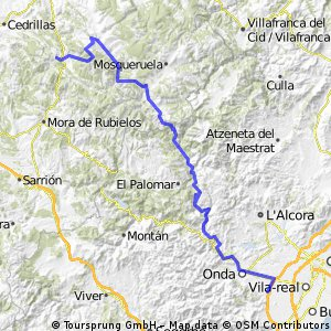 Betxi-Alcalá de la Selva (por Puertomingalvo y Valdelinares)